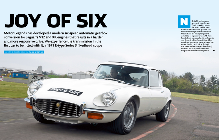 Motor Legends 6-speed automatic E-type